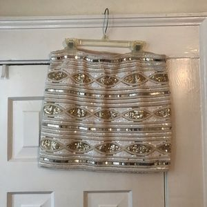 Medium Beaded Mini Skirt